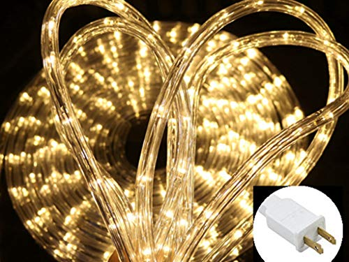 - PUHONG 110V 2-Wire Waterproof LED Rope Light Kit for Background,Outdoor,Christmas Lighting,Trees,Bridges and Decorations Eaves with UL Certified (100FT/30M) (Warm White)