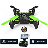 Mini Drone With Camera - Mini Quadcopter Drone with 0.3MP HD Camera,Hi-Tech 2.4 Ghz 4CH 6-Axis Gyro RC Quadcopter with Altitude Hold, 3D Flip, Headless Mode and One Key Return Function