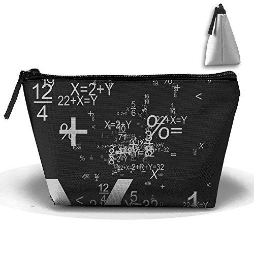 Makeup Bag Trapezoidal Storage Bag Math Black Function Portable Cosmetic Bag Ladies Mobile Travel -