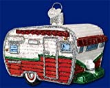 Old World Christmas Travel Trailer Glass Blown Ornament