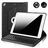 Keyboard Case iPad 9.7 Keyboard Case 2018 (6th Gen)-iPad 2017 (5th Gen) -iPad Air 2- iPad Air 1- iPad Pro 9.7-360°Rotating-PU Leather- iPad 9.7 Case Wireless Keyboard