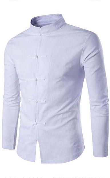 MUMU-001 Camisa de Estilo Chino Tradicional para Hombres ...