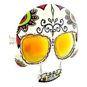 Sun-Stache Day of the Dead Sugar Skull Glasses