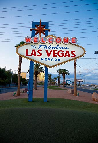Yeele 6x8ft Backdrop Welcome to Fabulous Las Vegas Nevada Sign Plate Background for Photography World Famous City Lover Adult Boy Girl Vacation Travel Portrait Photo Booth Shoot Vinyl Studio Props