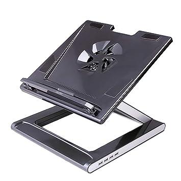 Sumferkyh Cojín de enfriamiento del refrigerador del ordenad Ordenador Portátil Heatsink Lifting Bracket Ergonomic USB Expansion Bracket Diseño Simple y ...