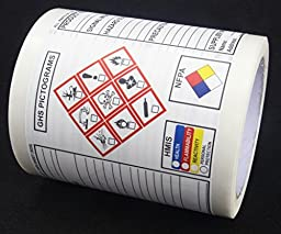 NEW GHS Chemical Label OSHA HMIS NFPA Diamond Label Safety Sign Decal 7.5\