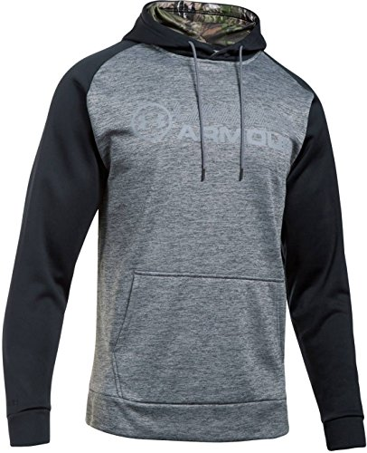 Under Armour Men's Armour Storm Fleece Stacked Hoodie,Graphite/Steel, Small