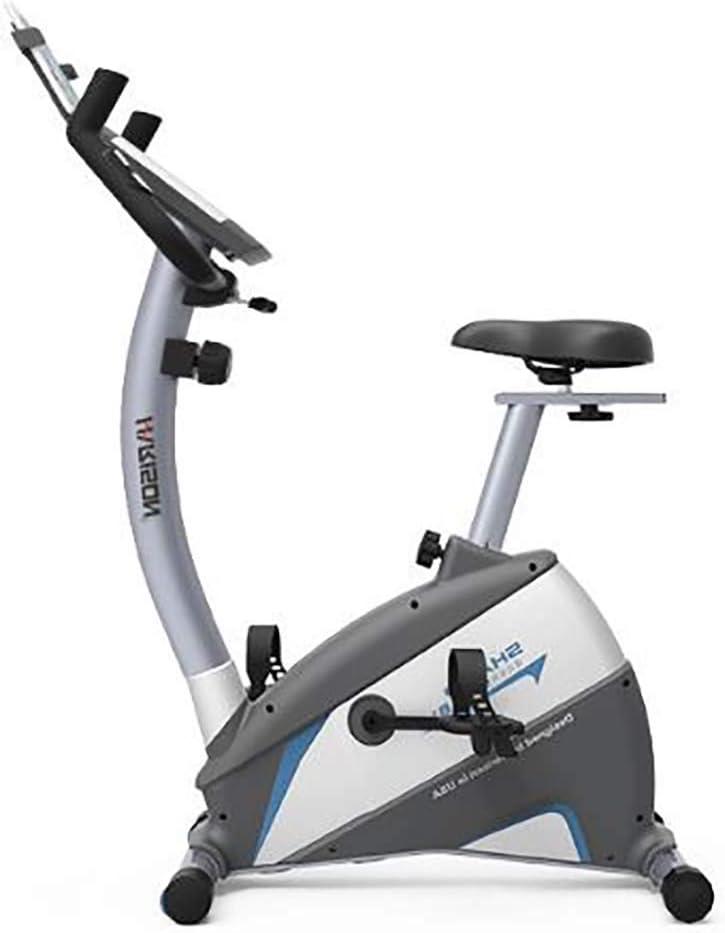 磁気静止バイク、静かなベルトドライブサイクリングトレーナー商用自転車フライホイール&パルスセンサー/LCDモニター/Ipadマウント付き