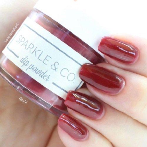 Sparkle & Co. Dip Powder dp.02 Dark Red -