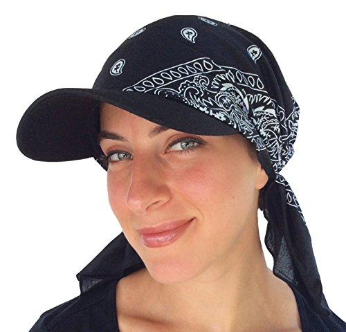 New Age Visor Pre Fitted Bandana Hat (Black and White) - Buy Online in  Oman.  74d6035e8e4d