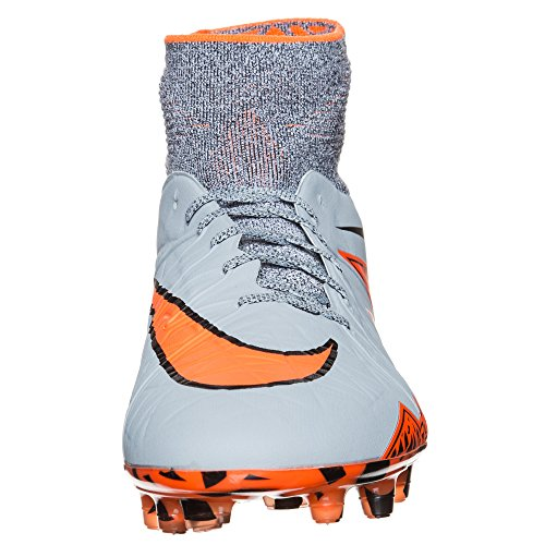 Nike Mens Hypervenom Phantom Ii Fg Tacchetti Da Calcio A Terra Ferma 11.5 Us, Grigio / Arancio Totale