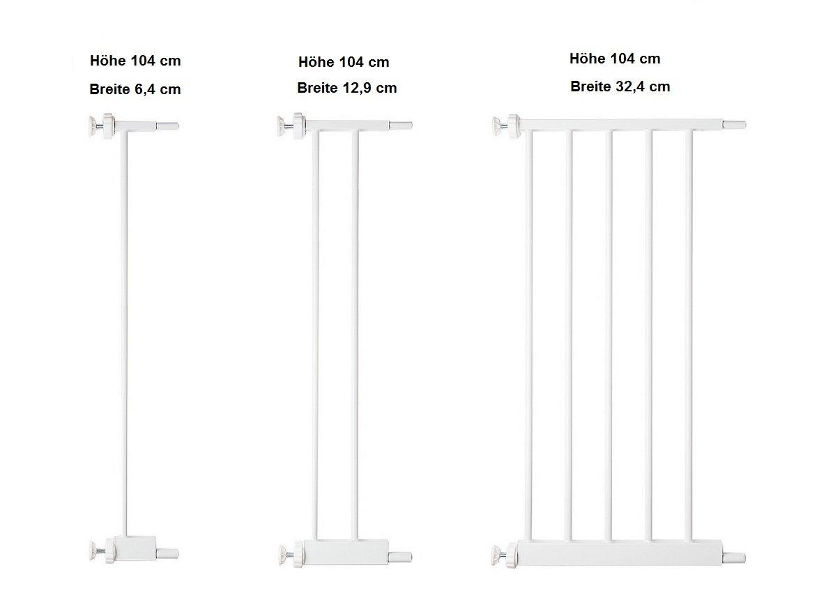 Verbreiterung ORIGINAL-Bettacare 104 cm Verl/ängerung 12,9 cm 32,4 cm T/ürschutzgitter Treppenschutzgitter Pet Gate mit Katzenklappe Breite 6,4 cm