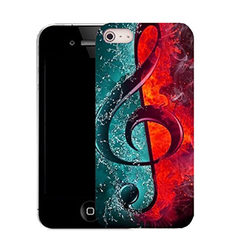 Mobile Case Mate IPhone 4 clip on Silicone Coque couverture case cover Pare-chocs + STYLET - musical abstract pattern (SILICON)