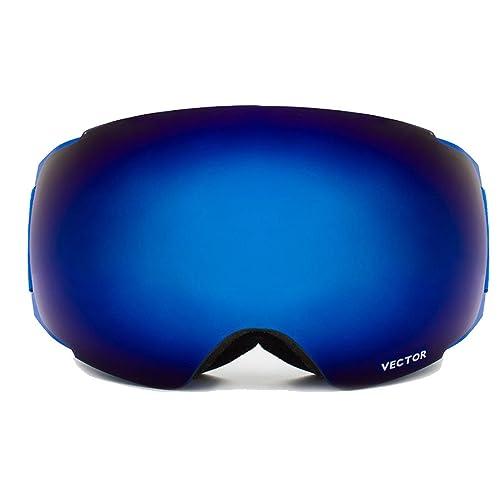 TZQ Gafas De Esquí Señoras Doble Lente Niebla Gran Esfera Con Imanes Convertible Al Aire Libre Alpin...