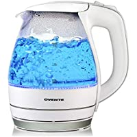 Ovente Electric Glass Kettle 1.5 Liter with Heat Tempered Glass