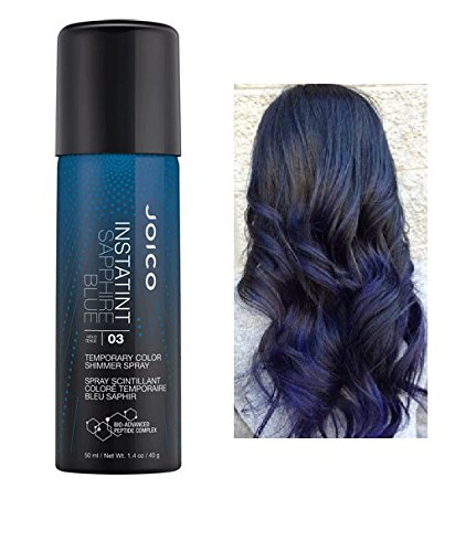 Joico InstaTint Temporary Color Shimmer Spray, 1.4 oz (with free Sleek Steel Tail Comb) (Sapphire Blue) ()
