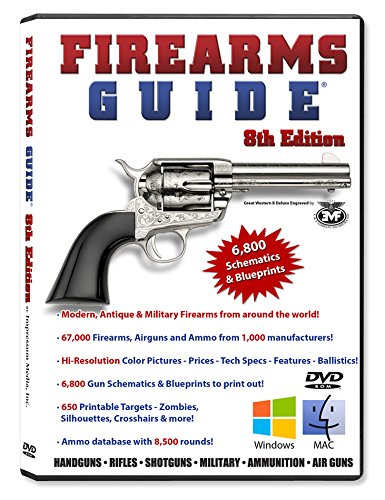 Firearms Guide 8th Edition DVD - World's Largest Guns & Ammo Reference Guide and Gun Schematics & Blueprints Library for Windows and Mac (Airgun Smith Wesson)