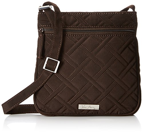 Vera Bradley Petite Double Zip Hipster 2 Cross Body Bag Espresso One Size