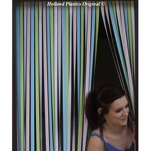 Holland Plastics Original Brand Wohnwagen-Türvorhang, Fliegengitter, Insektenschutz, Streifenvorhang - Pastell…