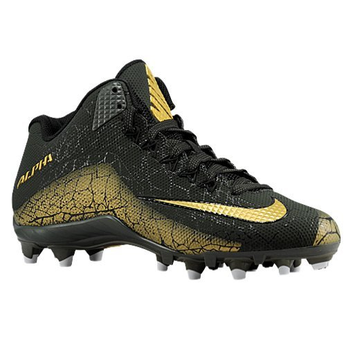 Mens Nike Alpha Pro 2 Football Cleat (11.5 D(M) US, BLACK/METALLIC GOLD/METALLIC Gold Sequoia) (U Of M Football compare prices)