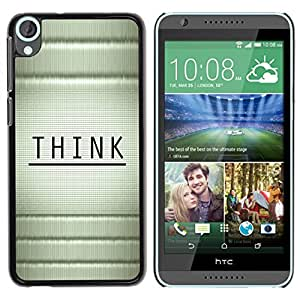 Stuss Case / Funda Carcasa protectora - Think Wood Bamboo Black Message - HTC Desire 820