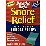 Breathe Right Snore Relief Throat Strips-30