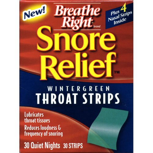 Breathe Right Snore Relief Throat Strips-30 ct.