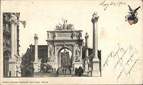 Arch Dewey - DeWey Arch New York, New York Original Vintage Postcard