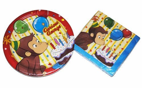 Curious George Party Plates and - Plates Curious Cake George