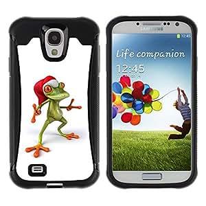 "Pulsar iFace Series Tpu silicona Carcasa Funda Case para Samsung Galaxy S4 IV I9500 , Rana de Navidad Elf feliz"""