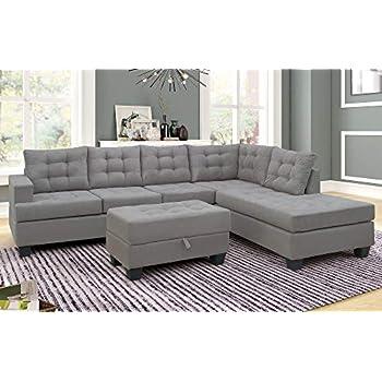 Amazon.com: Harper&Bright Designs Modern Sectional Sofa