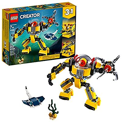 LEGO Creator 3in1 Underwater Robot 31090 Building Kit (207 Piece)