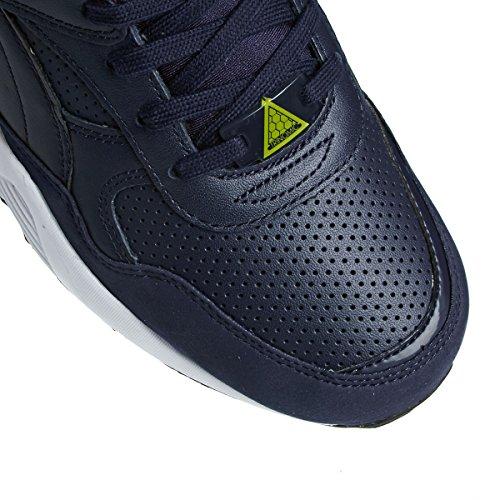 Puma R698 LEATHER Zapatillas Cuero Azul para Hombre Trinomic