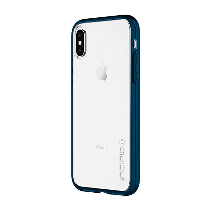 best website 740c9 25c64 Incipio Octane Pure iPhone X Case with Shock-Absorbing Bumper and Clear  Back Shell for iPhone X - Navy