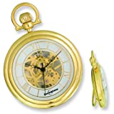 Swingtime Gold Plated 17 Jewel Pocket Watch & Chain