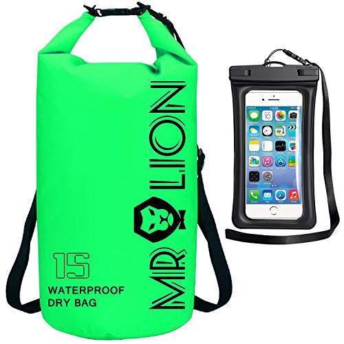 MR LION Waterproof Dry Bag Keeps Gear Dry for Water Sports with Waterproof Phone Case