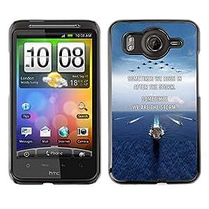 TopCaseStore / la caja del caucho duro de la cubierta de protección de la piel - You Moon Text Sunset Beach Ocean - HTC G10