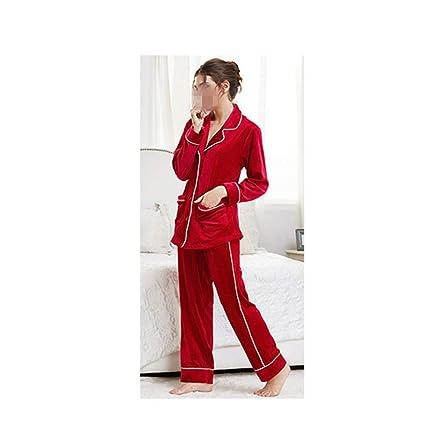 Traje De Servicio De Terciopelo De Doble Cara De Dos Piezas De Terciopelo Pijama De Mujer