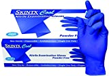 SKINTX CB2-50010-M-CS Nitrile Medical Grade Examination Glove, 3 mil - 4 mil, Powder-Free, Latex-Free, Finger Textured, 200/bx Eco-Friendly Packaging, Cool Blue (Pack of 2000) offers