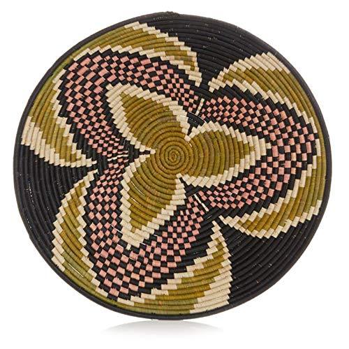 - Large Sage Three Petal Design Fruit or Display African Basket Handwoven Home Decor