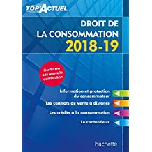 Top Actuel Droit de la consommation 2018-2019 (Top' Actuel) (French Edition)