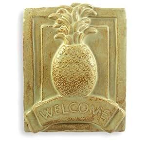 Amazon Com Pineapple Craftsman Style Ceramic Welcome