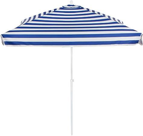 Aktive - Sombrilla cuadrada para playa a rayas 200 x 200 cm (53758)