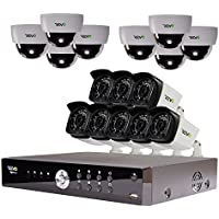 REVO America Aero HD 1080p 16 Ch. Video Security System with 16 Indoor/Outdoor Cameras, White/Black (RA161D8GB8G-4T)