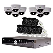 REVO America Aero HD 1080p 16 Ch. Video Security System with 16 Indoor/Outdoor Cameras, White/Black (RA161D8GB8G-2T)