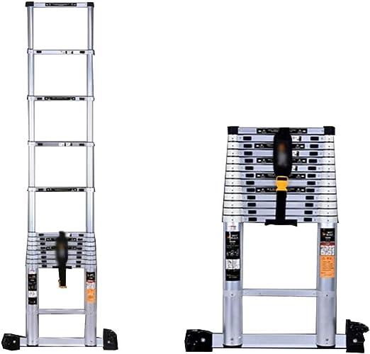 KTYXDE Escalera telescópica para Interior y Exterior, Escalera Recta, Plegable, Escalera de ingeniería, Escalera de aleación de Aluminio: Amazon.es: Juguetes y juegos