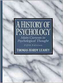 leahey history of psychology pdf