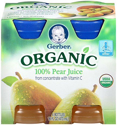 Gerber Juice - Organic Pear - 4 fl oz - 4 pk