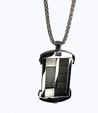 Amazon.com: BBSL - Collar fino para hombre, acero inoxidable ...
