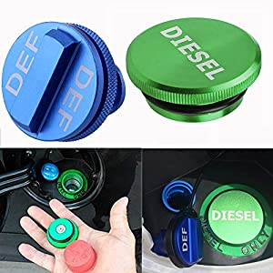 Combo Pack Magnetic Diesel Fuel Cap Easy Grip DEF Cap Accessory for 2013-2018 Dodge RAM Truck 1500 2500 3500 with 6.7 Cummins EcoDiesel